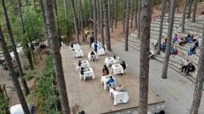 Ayazma Milli Parkındaki satranç buluşması heyecan yarattı