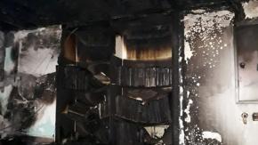 Çanakkale'de Cami kundaklandı