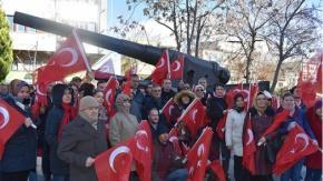 Zeytin Dalı Harekatına Bayraklı destek