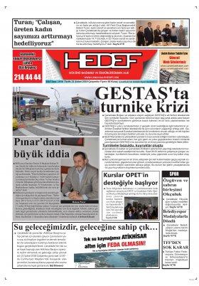 Çanakkale Hedef Gazetesi - 21.02.2018 Manşeti