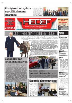 Çanakkale Hedef Gazetesi - 17.11.2017 Manşeti