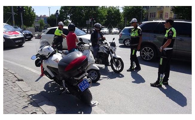 81 ilde motosiklet denetimi