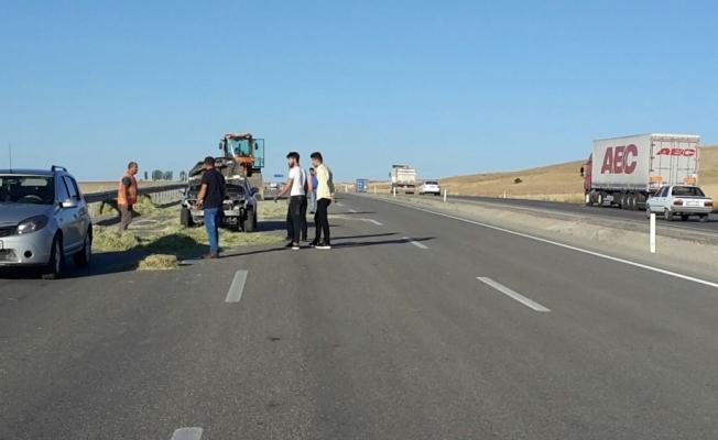 Aşkale'de iki trafik kazası, 1 yaralı