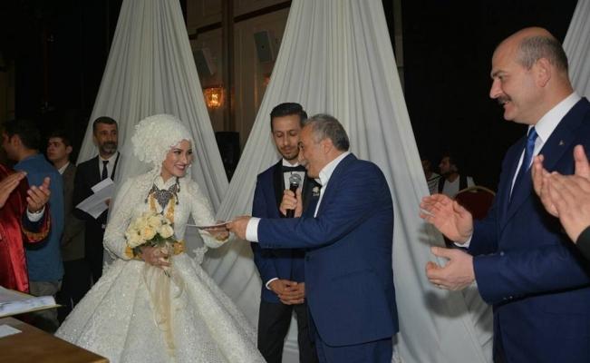 Bakan Soylu ve Fakıbaba, nikah şahidi oldu
