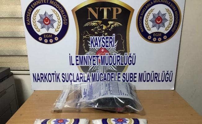 Kayseri'de 2 kilo metamfetamin ele geçirildi
