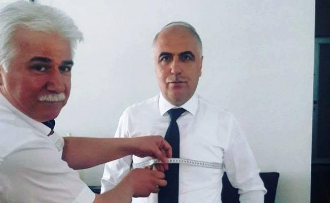 Vali Karahan'a gömlek dikecek