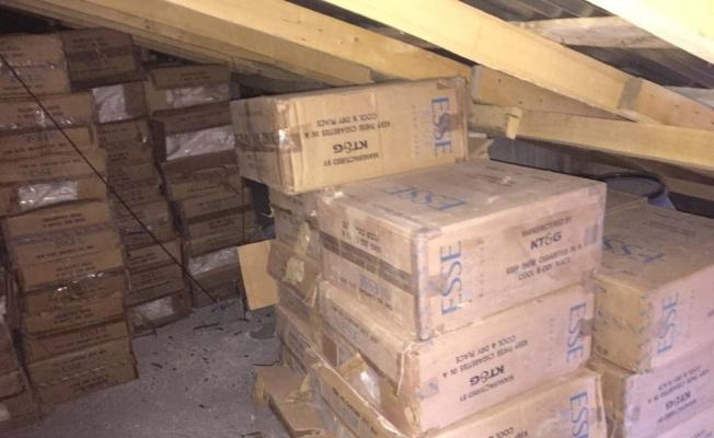 Van'da 278 bin 500 paket kaçak sigara ele geçirildi