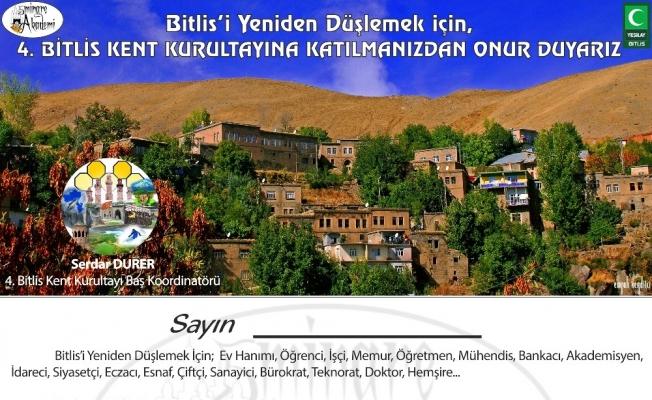 Bitlis'te 'Kent Kurultayı' hazırlığı