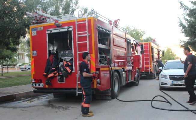 Elazığ'da bir evde çıkan yangın kısa sürede söndürüldü