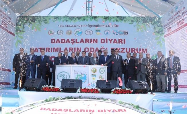 Erzurum'da 38 tesisin temeli atıldı