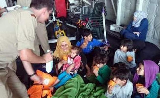 Sahil Güvenlik uçağı 57 Suriyeliyi denize açılmadan fark etti
