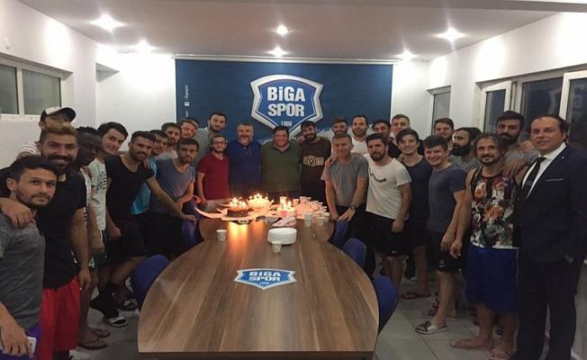 Bigaspor'da kutlama vardı