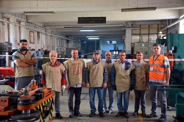 Çelik kaynakçı sınavları düzenlendi