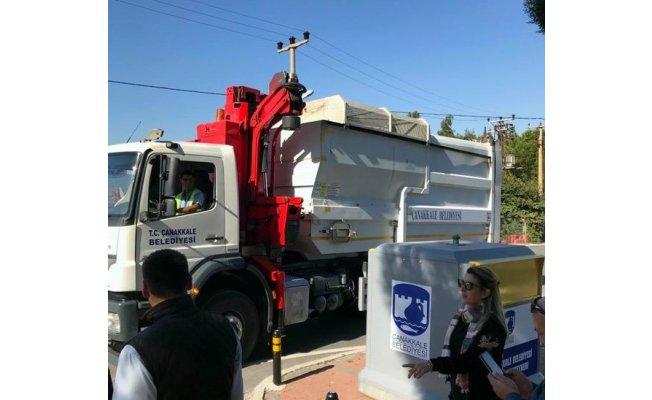 Yeni yerüstü çöp konteyneri uygulaması