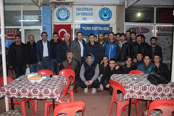Türk Eğitim-Sen Çan Temsilciliğinden geleneksel pilav