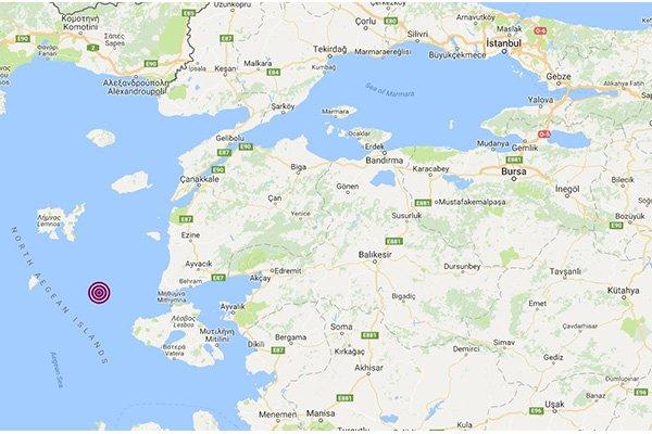 Ege Denizi'nde 3.9 şiddetinde deprem