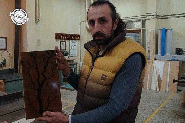 Ahşap ile elektrik usta ellerde sanata dönüyor (VİDEO)