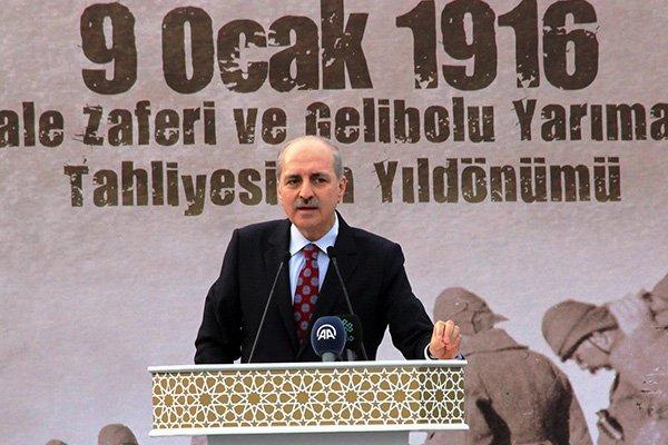 """Bakan Kurtulmuş: """"Çanakkale'deki büyük zaferle, 15 Temmuz büyük zaferi arasında hiçbir fark yoktur"""""""