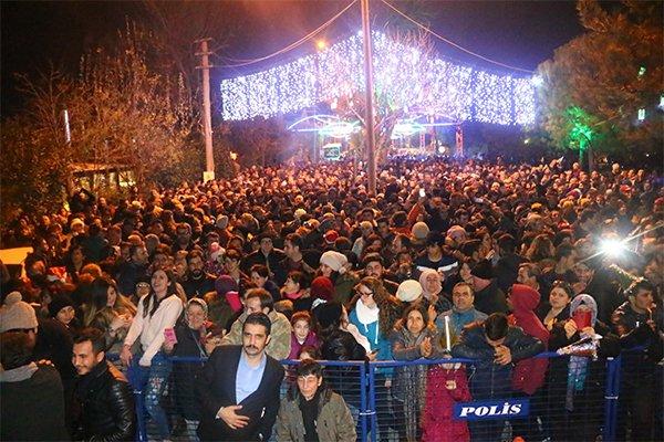 Kepez'de yeni yıl coşkusu