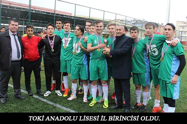 TOKİ ANADOLU LİSESİ ŞAMPİYON