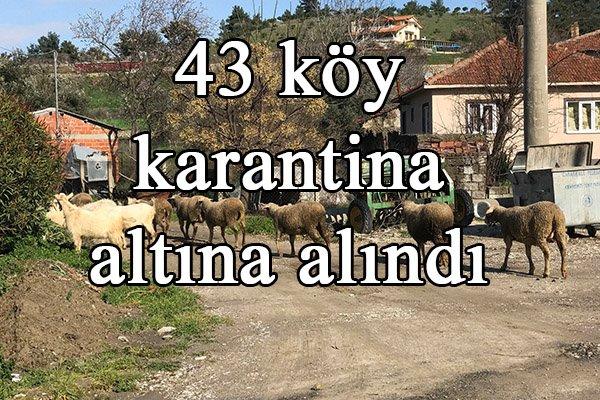 43 köy karantina altına alındı