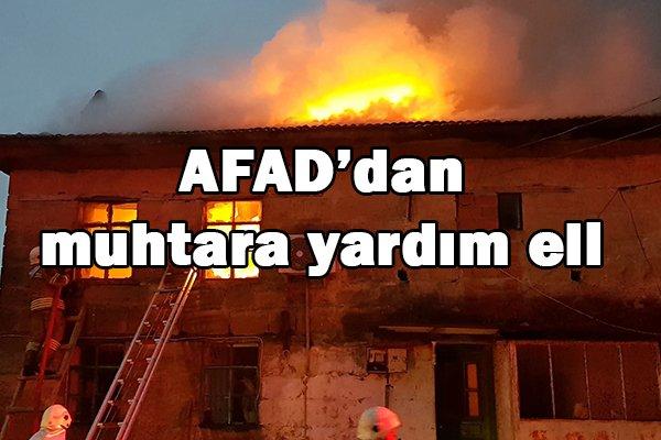AFAD'dan muhtara yardım eli