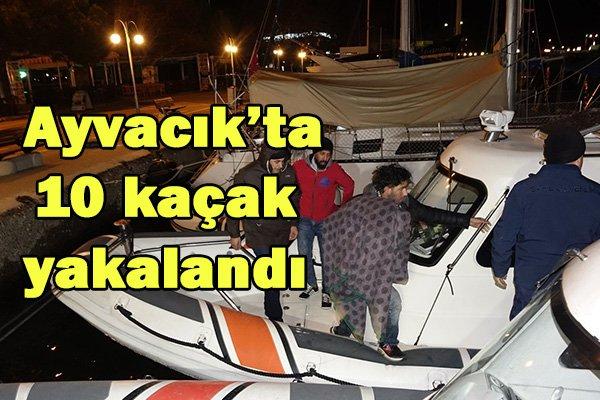 Ayvacık'ta 10 kaçak yakalandı
