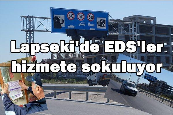 Lapseki'de EDS'ler hizmete sokuluyor