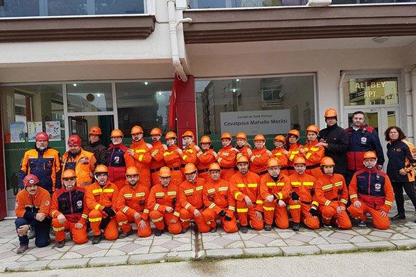 Mahalle Afet Gönüllüleri göreve hazır