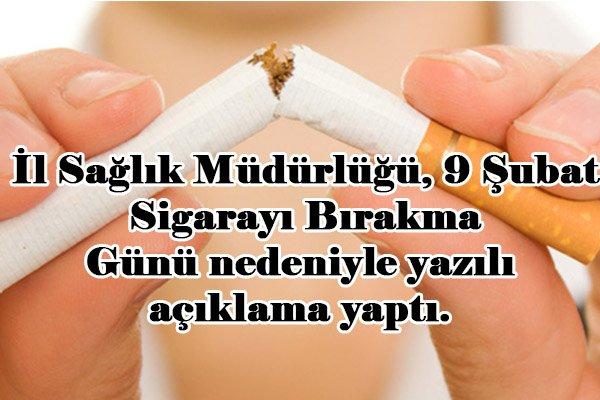 """""""Sigarayı bırakalım, hayatın tadına varalım"""""""