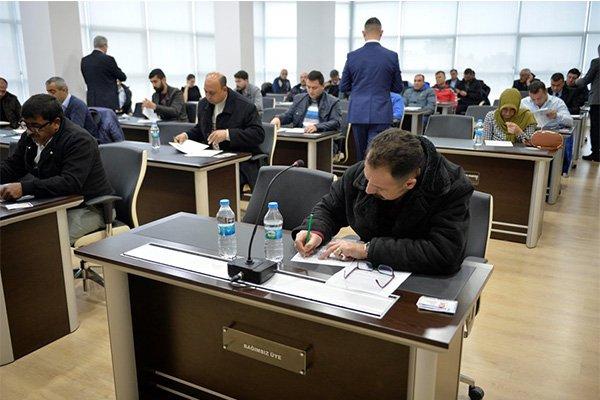 Şoför adaylarına sınav