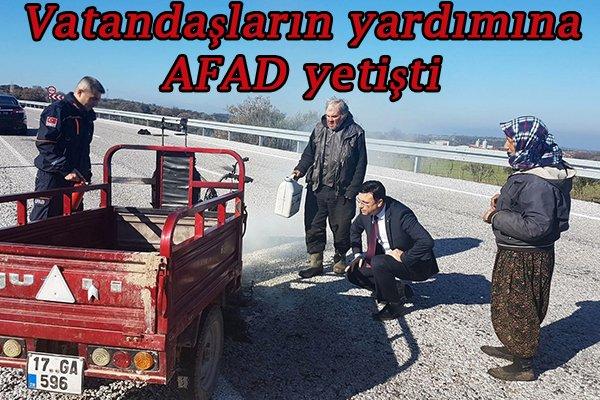 Vatandaşların yardımına AFAD yetişti