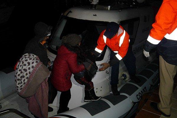 Ayvacık'ta 31 mülteci yakalandı