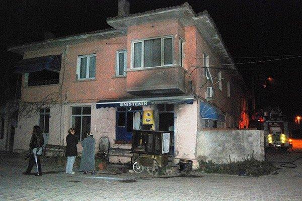 Bayramiç'te korkutan yangın
