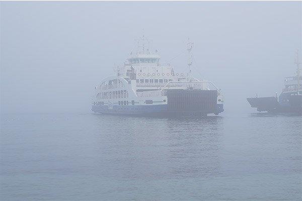 Çanakkale Boğazı'nda yoğun sis hakimiyeti