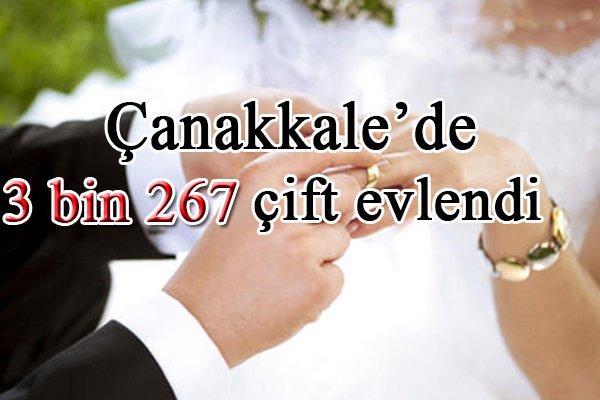 Çanakkale'de 3 bin 267 çift evlendi