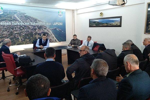 Lapseki'de güvenlik toplantısı