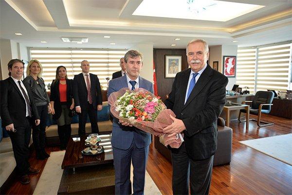 SMMMO Yönetimi'nden Başkan Gökhan'a ziyaret