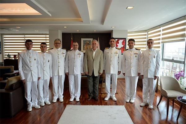 Deniz Astsubay Öğrencilerinden Başkan Gökhan'a ziyaret…