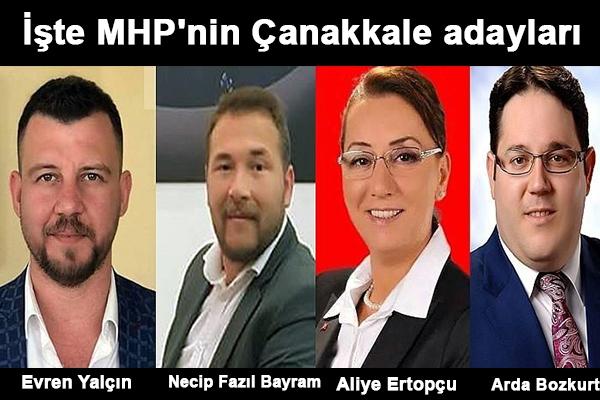 İşte MHP'nin Çanakkale adayları