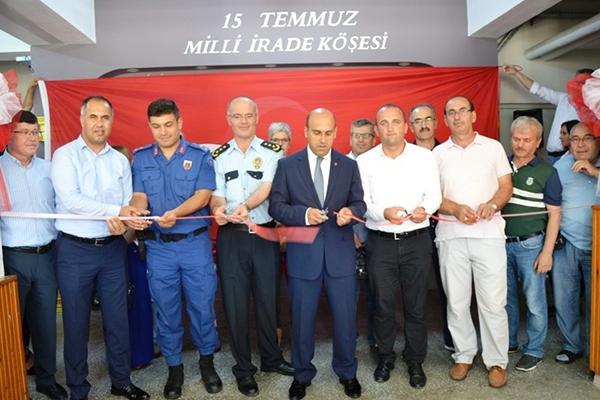 Biga'da 15 Temmuz Milli İrade köşesi açıldı