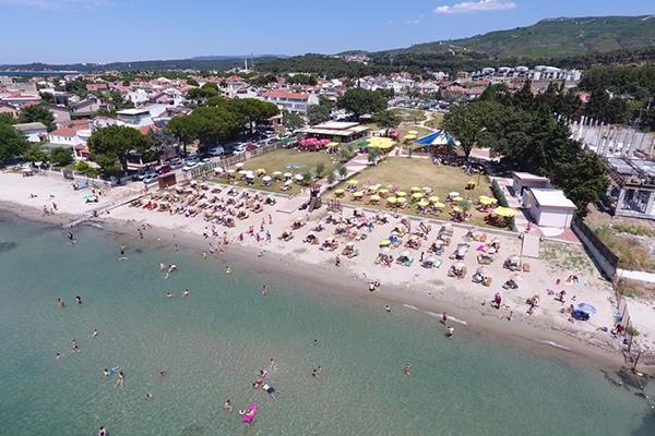 Güzelyalı Halk Plajına yoğun ilgi