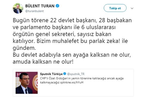 Turan'dan Özel'e cevap
