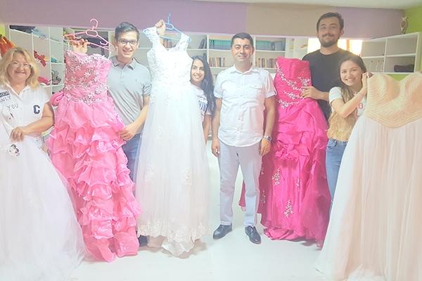 Evleneceklere müjde: Gelinlikler Çanakkale Güç Birliği'nden