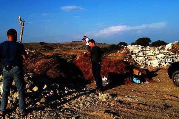 Patlamamış top mermisi bulundu