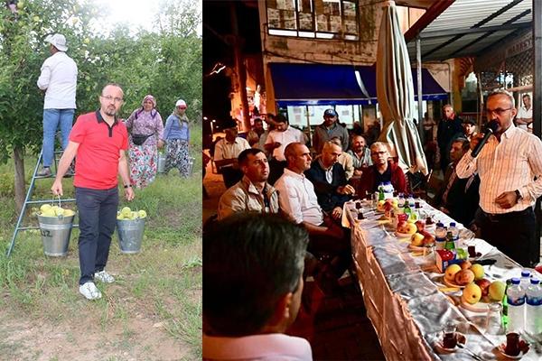 Turan Bayramiç'te üreticilerle buluştu
