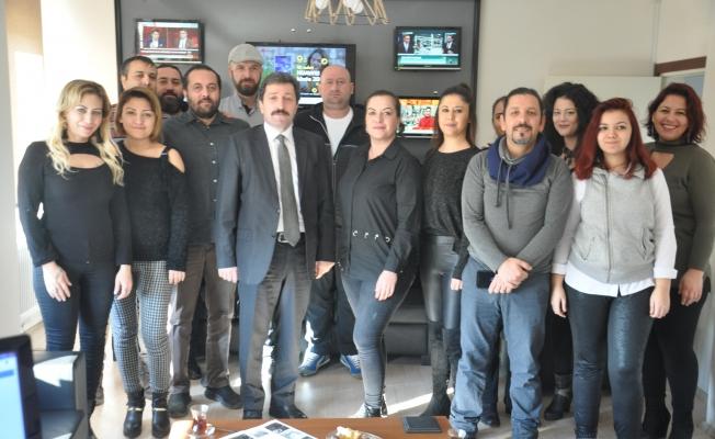 Vali Tavlı'dan Hedef Gazetesi'ne ziyaret