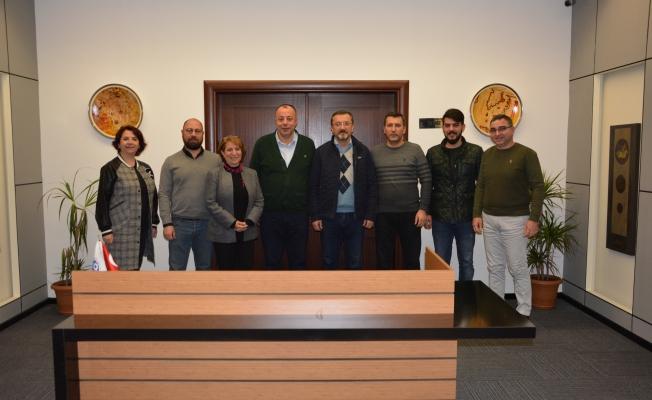 17 BURDA AVM esnafından ÇTSO'ya ziyaret