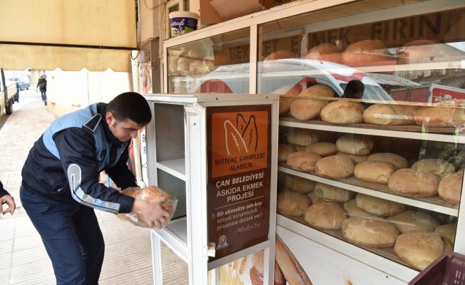 Çan'da 'Askıda Ekmek' uygulaması
