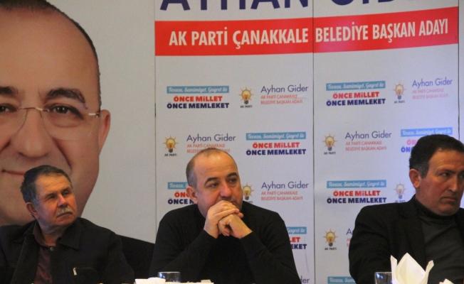 """Gider; """"Biz Çanakkale'ye hizmet etmek istiyoruz"""""""